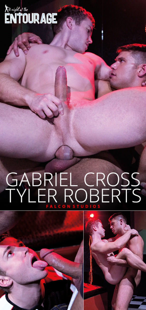 FalconStudios A Night at the Entourage Gabriel Cross rides Tyler Roberts' thick cock
