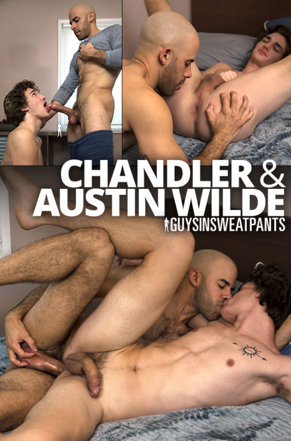 GuysInSweatpants Austin Wilde breeds newbie Chandler's tight ass Bareback