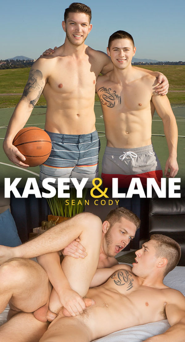 SeanCody Newcomer Kasey has gay sex for the first time with power bottom Lane Bareback