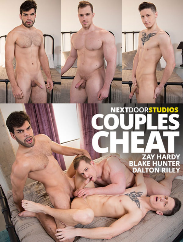 NextDoorRaw Couples Cheat Dalton Riley, Blake Hunter Zay Hardy's raw threeway fuck