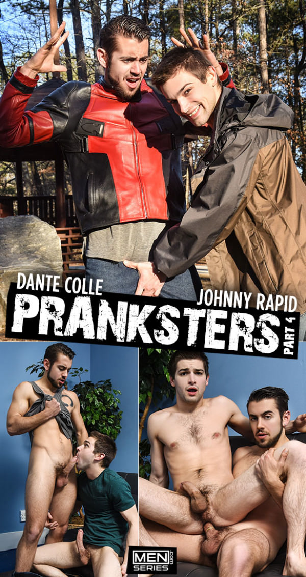 Men.com Pranksters, Part 4 Dante Colle pounds Johnny Rapid DrillMyHole