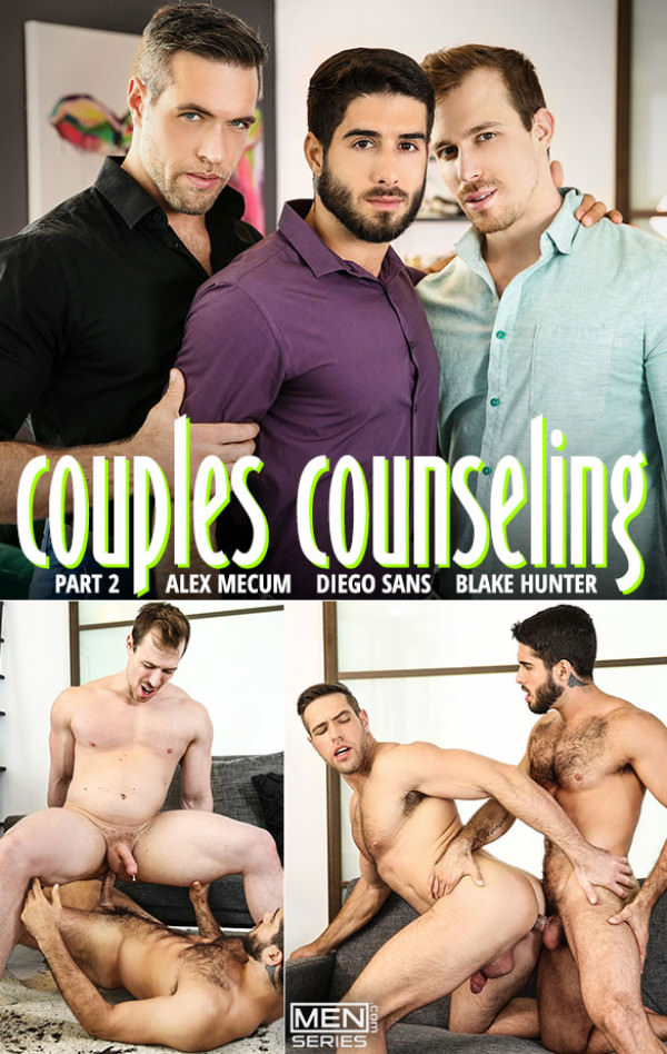 Men.com Couples Counseling, Part 2 Diego Sans, Alex Mecum Blake Hunter DrillMyHole