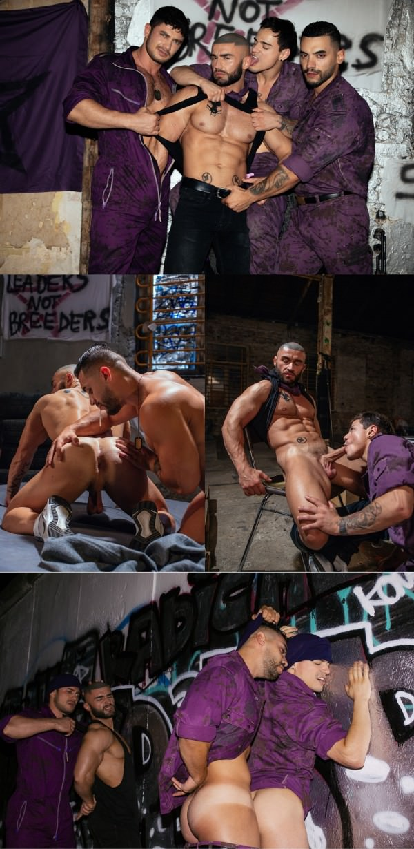Cockyboys Jake Jaxson Presents Bruce Labruce's Purple Army Faction Final Part Of The Flea Pit Anthology Arad WinWin, Dato Foland, Francois Sagat Levi Karter