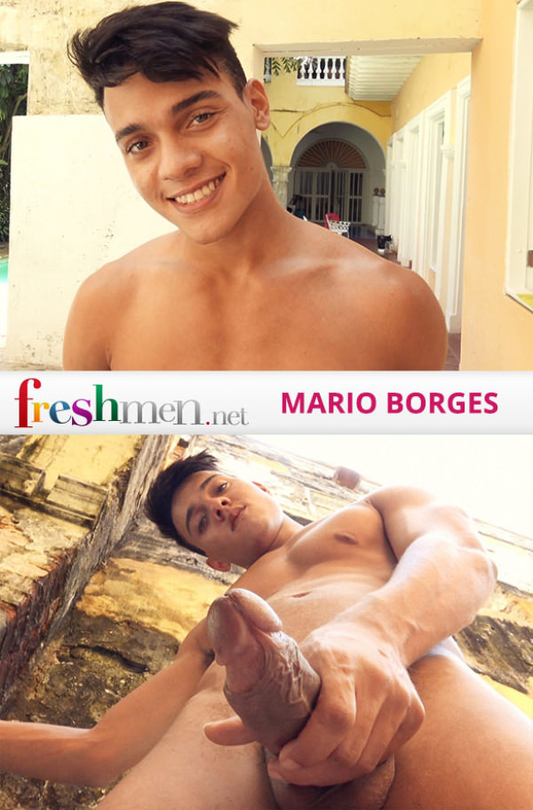 FreshMen Issue 75 Mario Borges busts a nut