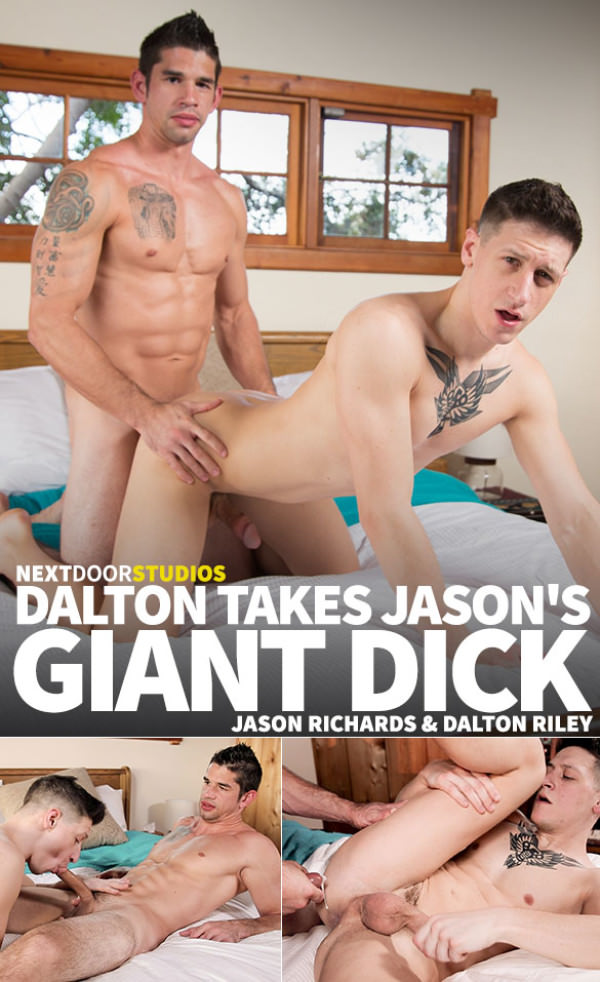 NextDoorBuddies Big-dicked Jason Richards creams Dalton Riley Bareback