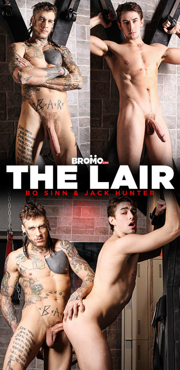 Bromo The Lair Jack Hunter gets fucked raw and deep by Bo Sinn and his massive cock