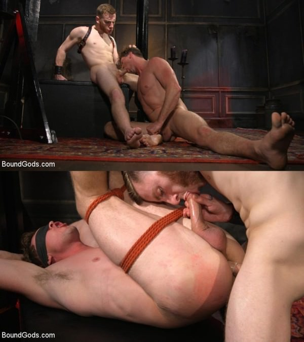 BoundGods Sore Loser: Muscle stud Pierce Paris Gets Beat and Foot-Fucked Sebastian Keys Pierce Paris
