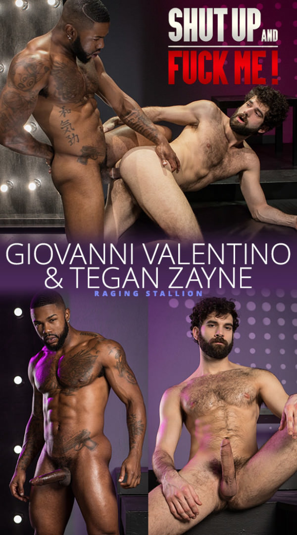 RagingStallion Shut Up and Fuck Me! Big-dicked Giovanni Valentino bangs Tegan Zayne