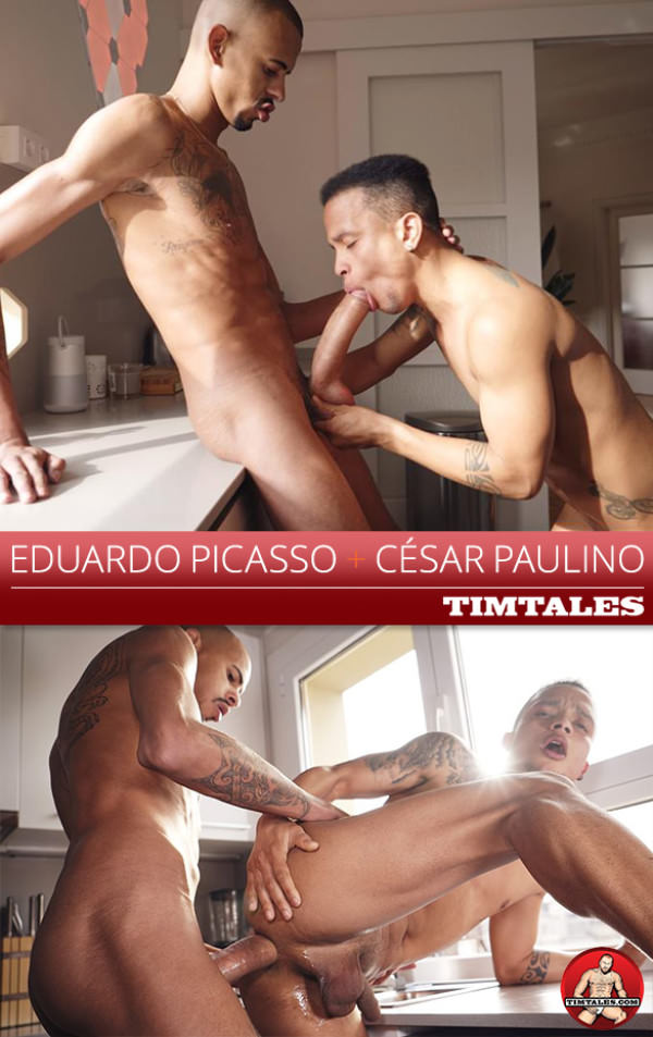 TimTales César Paulino gets pounded by Eduardo Picasso and his 12-inch cock