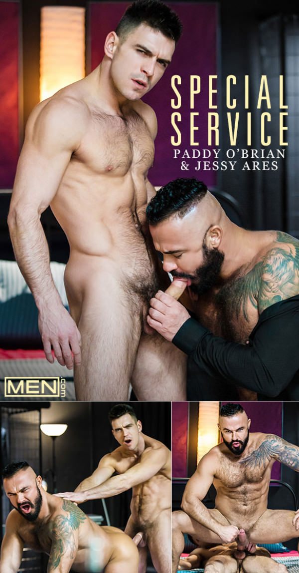 Men.com Special Service Paddy O'Brian bangs Jessy Ares DrillMyHole