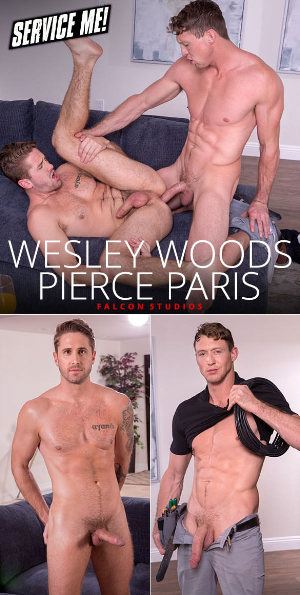 FalconStudios Service Me! Pierce Paris fucks Wesley Woods