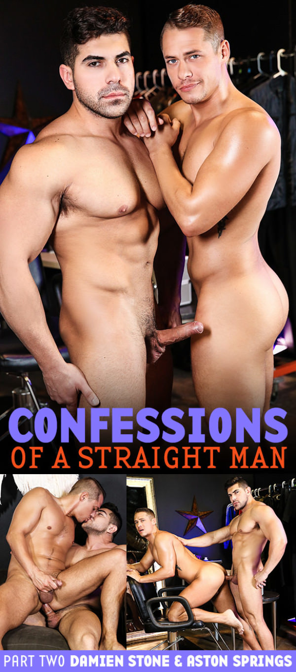 Men.com Confessions of a Straight Man, Part 2 Damien Stone fucks Aston Springs Str8toGay