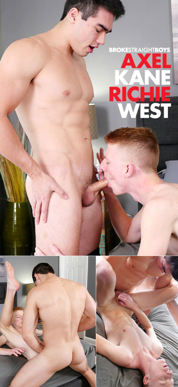 BrokeStraightBoys Axel Kane barebacks Richie West