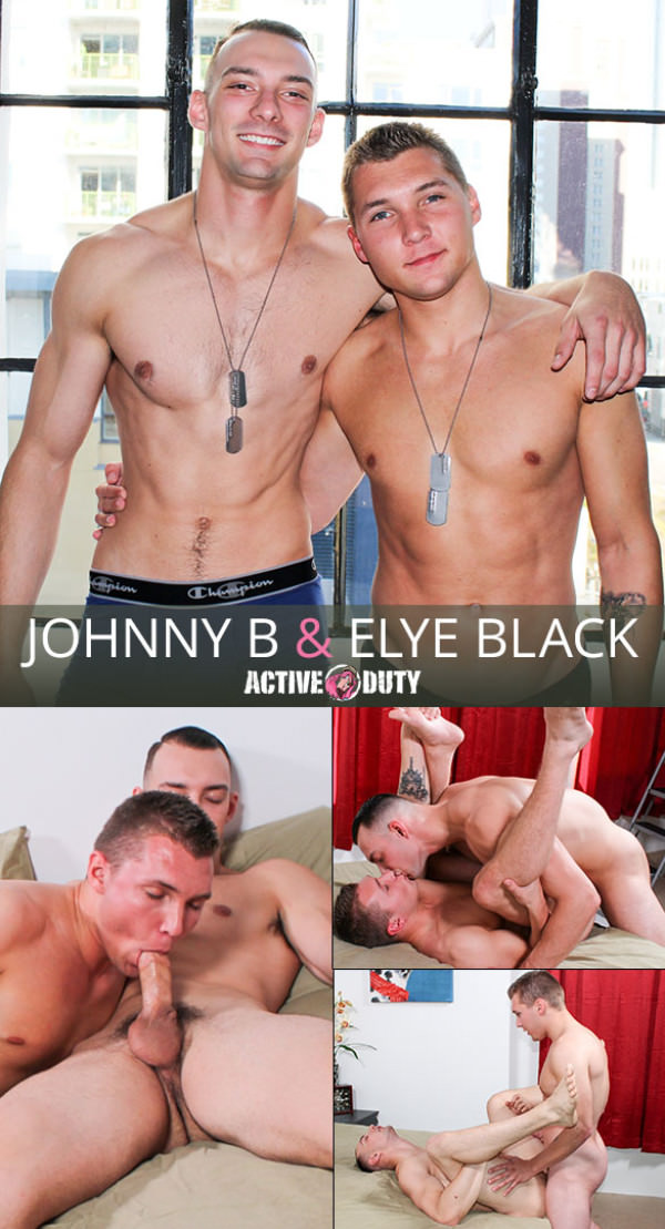 ActiveDuty Elye Black Johnny B flip fuck bareback