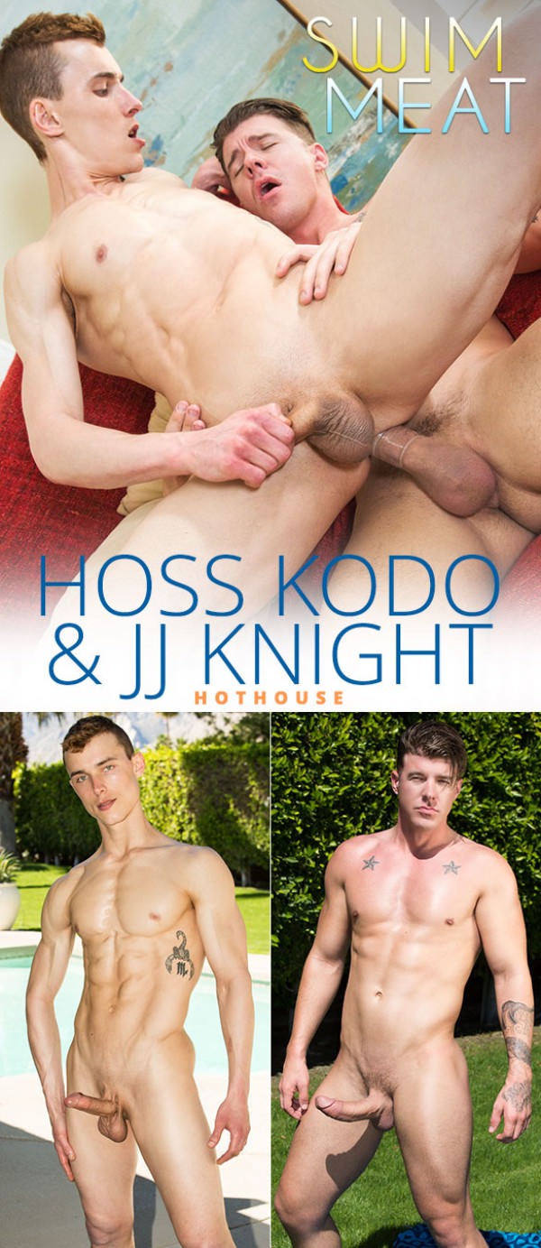 HotHouse Swim Meat Hoss Kado rides JJ Knight's massive cock