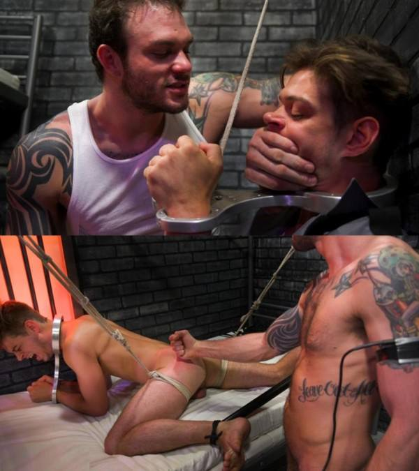 BoundGods Bad boy inmate Cliff Jensen breaks in new guard Michael DelRay