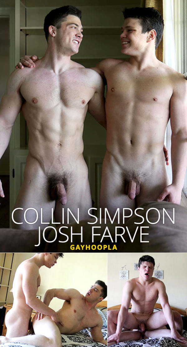 GayHoopla Collin Simpson and Josh Farve fuck each other