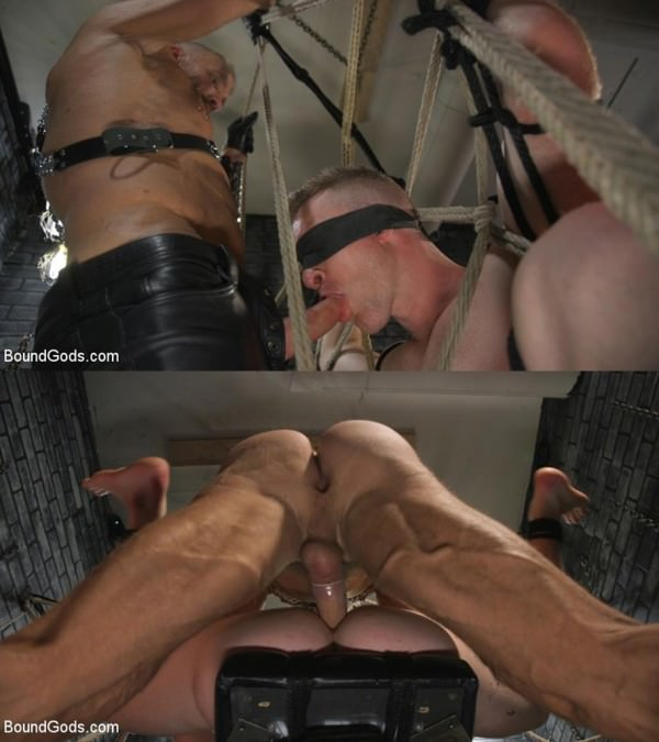 BoundGods New To KinkMen Nick Fitt Gets Dominated and Fucked by Dallas Steele