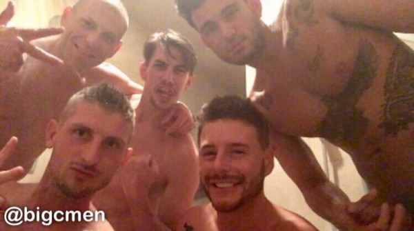 OnlyFans BigCMen 5 Way With Jack Hunter, Josh Moore Ricky Roman crazy orgy