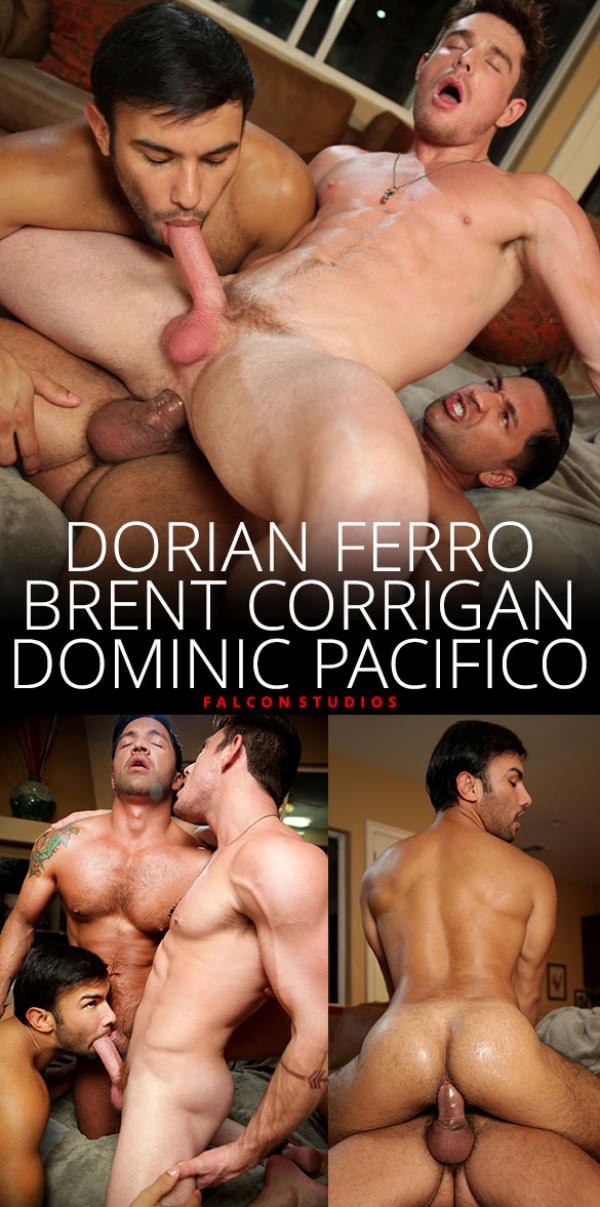 FalconStudios Ultra Fan Brent Corrigan, Dominic Pacifico Dorian Ferro's hot threeway fuck