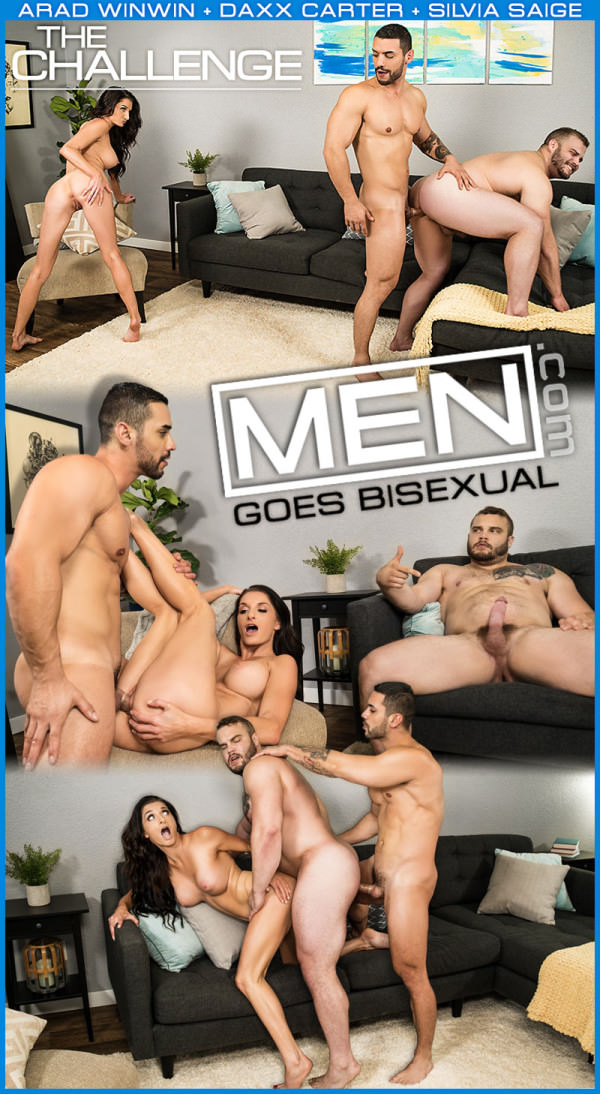 Men.com The Challenge - Now Does Bisexual Porn Arad Winwin, Daxx Carter And Silvia Saige DrillMyHole