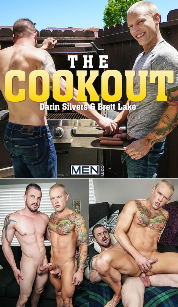Men.com The Cookout Darin Silvers fucks Brett Lake DrillMyHole
