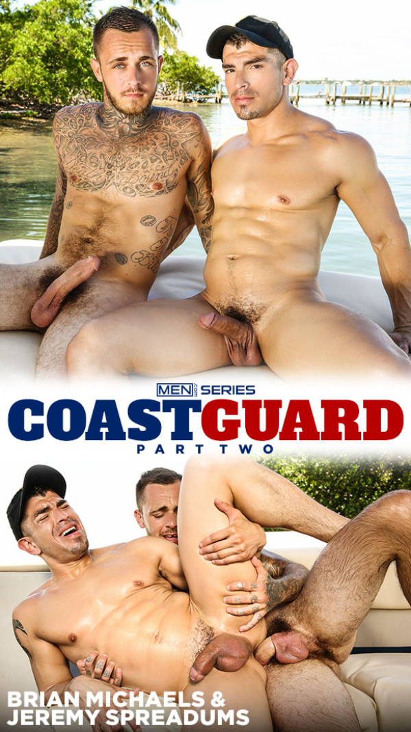 Men.com Coast Guard, Part 2 Brian Michaels tops Jeremy Spreadums DrillMyHole
