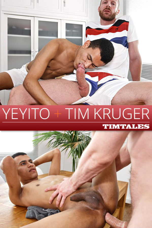 TimTales Newcomer Yeyito rides Tim Kruger's thick cock