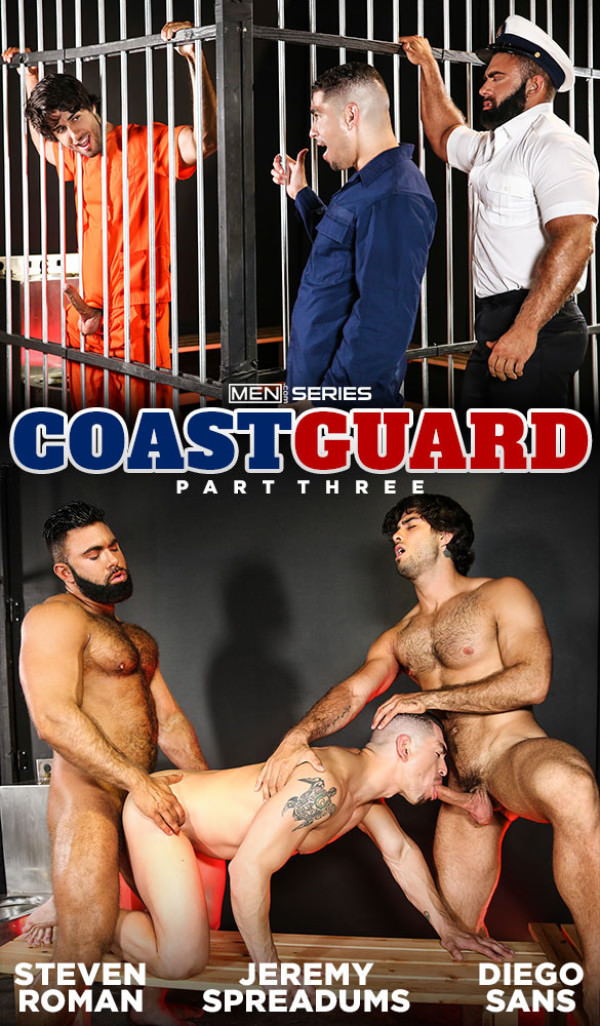 Men.com Coast Guard, Part 3 Steven Roman Diego Sans tag team Jeremy Spreadums DrillMyHole