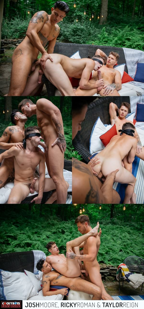 CockyBoys Fans Only! Taylor Reign, Josh Moore Ricky Roman DP Bareback