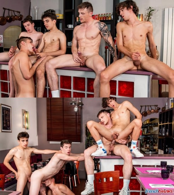 FrenchTwinks Vice Kitchen Episode 2 Chris Loan, Corentin Tessier, Paul Delay, Jules Laroche Gabriel Lambert
