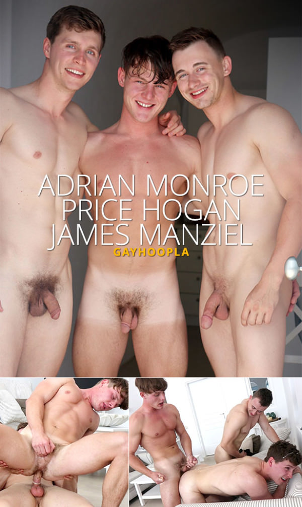 GayHoopla Price Hogan, Adrian Monroe and James Manziel's threesome in Europe