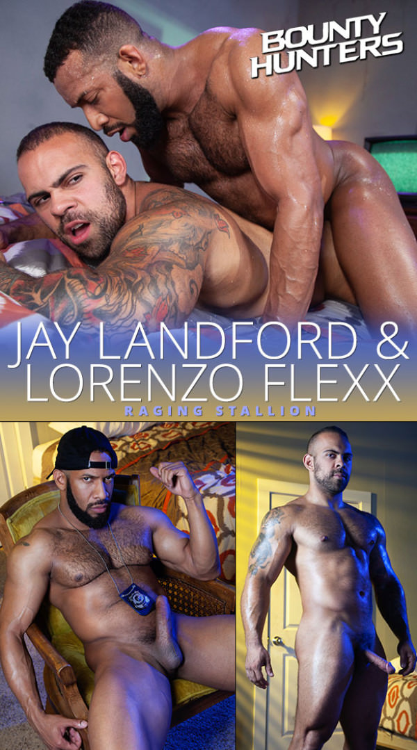 RagingStallion Bounty Hunters Jay Landford barebacks Lorenzo Flexx