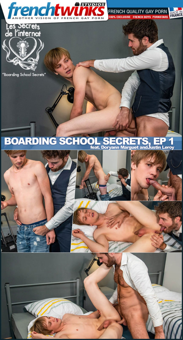 FrenchTwinks Boarding School Secrets, Episode 1 Doryann Marguet Fucks Justin Leroy