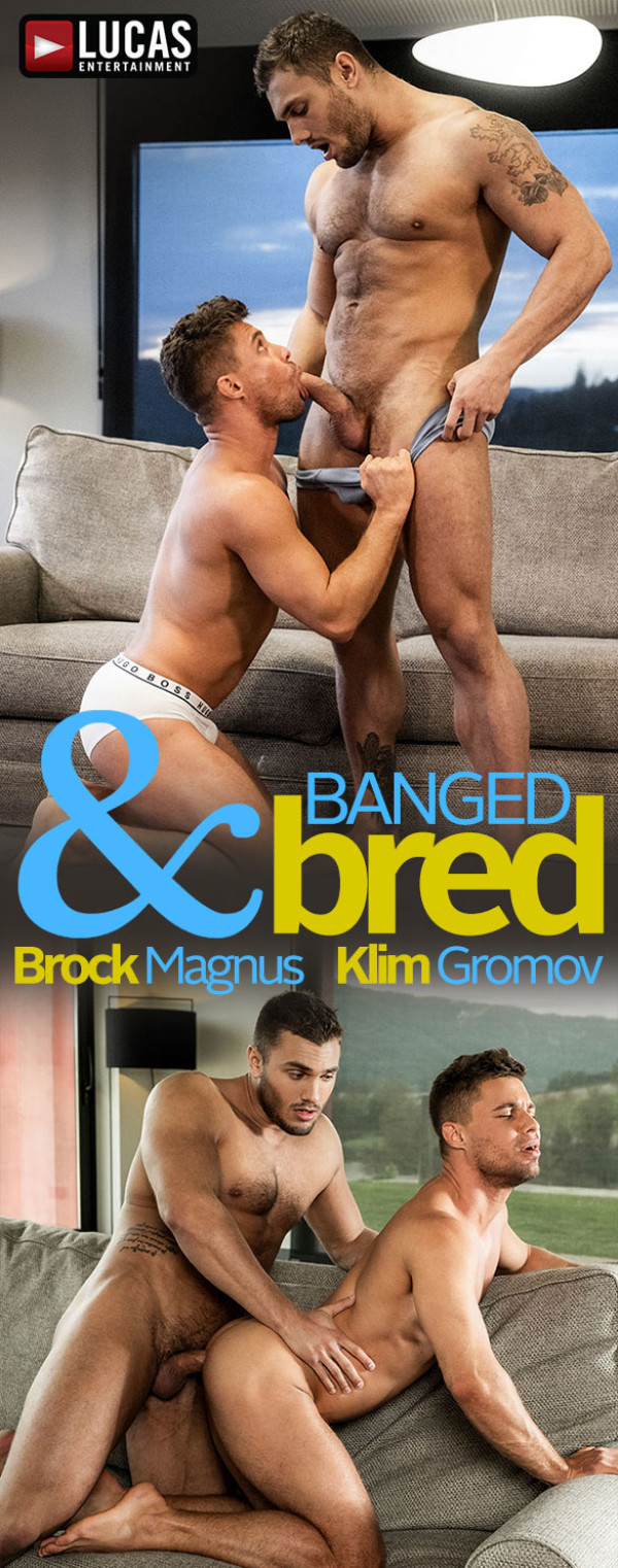 LucasEntertainment Banged Bred Brock Magnus slams Klim Gromov's ass raw