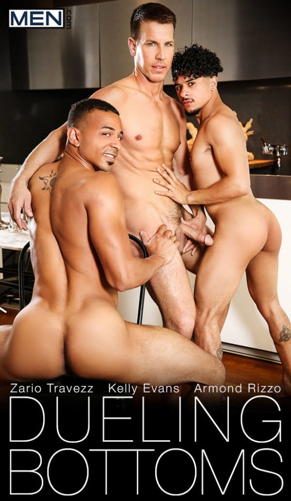 Men.com Dueling Bottoms Armond Rizzo Zario Travezz get fucked by Kelly Evans Str8toGay