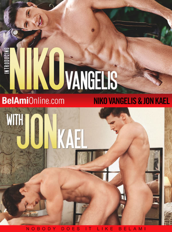 BelAmiOnline Hot newcomer Niko Vangelis gets fucked raw by Jon Kael