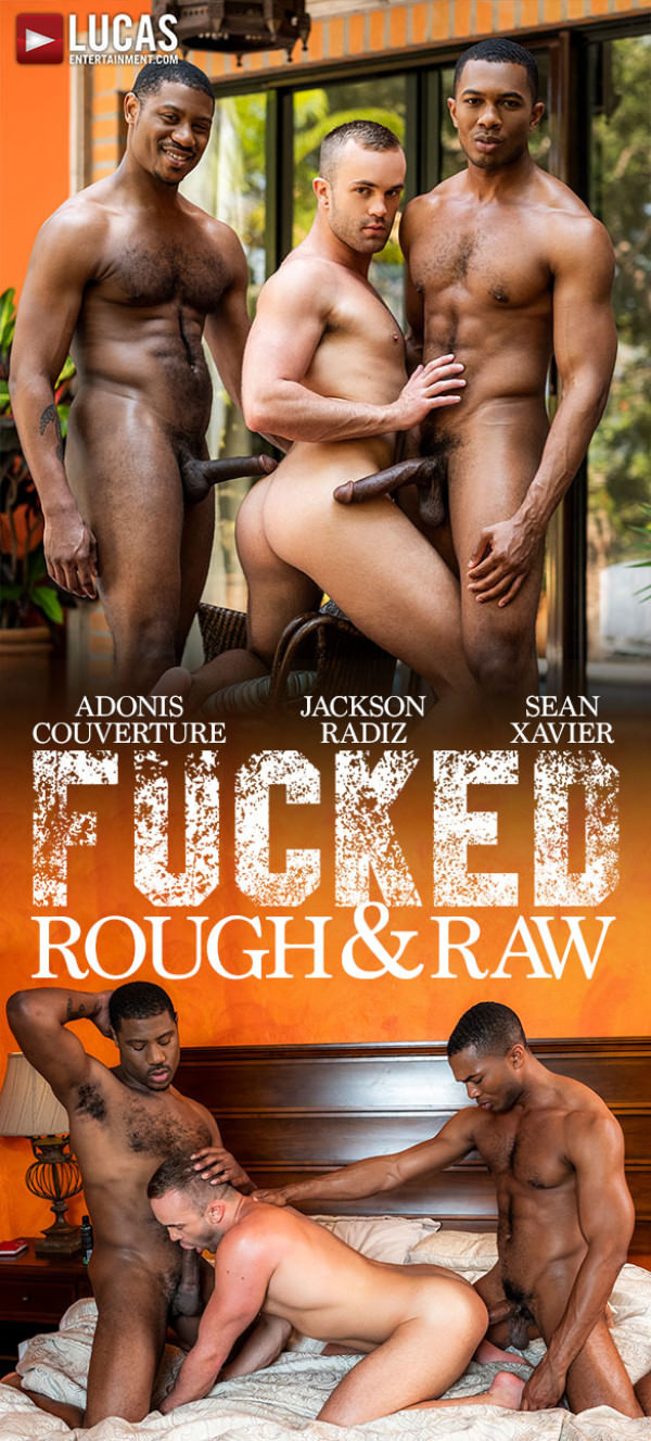 LucasEntertainment Fucked Rough & Raw Jackson Radiz takes Sean Xavier Adonis Couverture's massive cocks Bareback