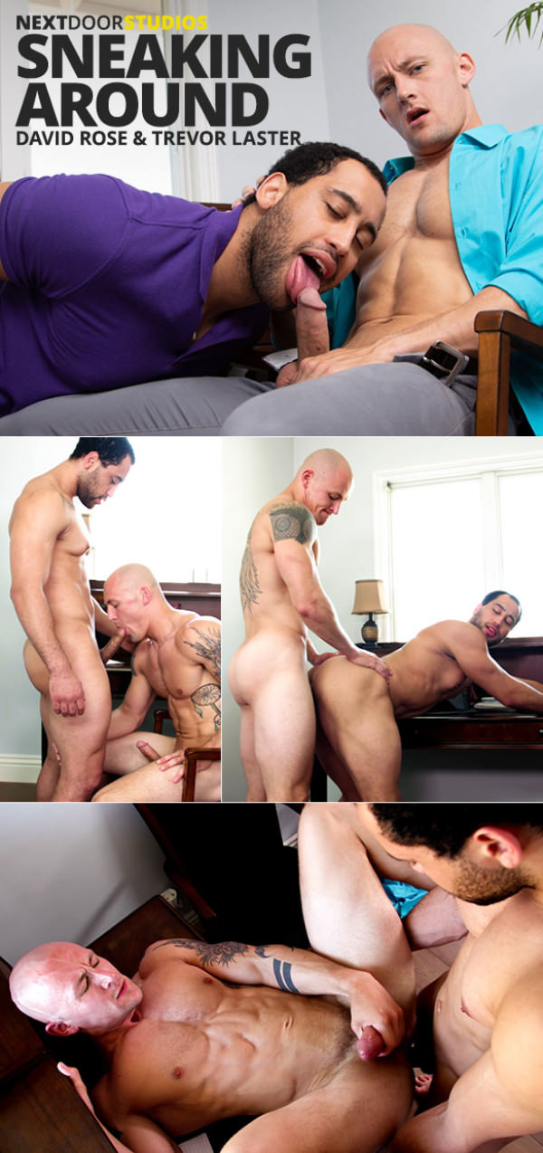 NextDoorBuddies Sneaking Around Trevor Laster and David Rose flip fuck bareback