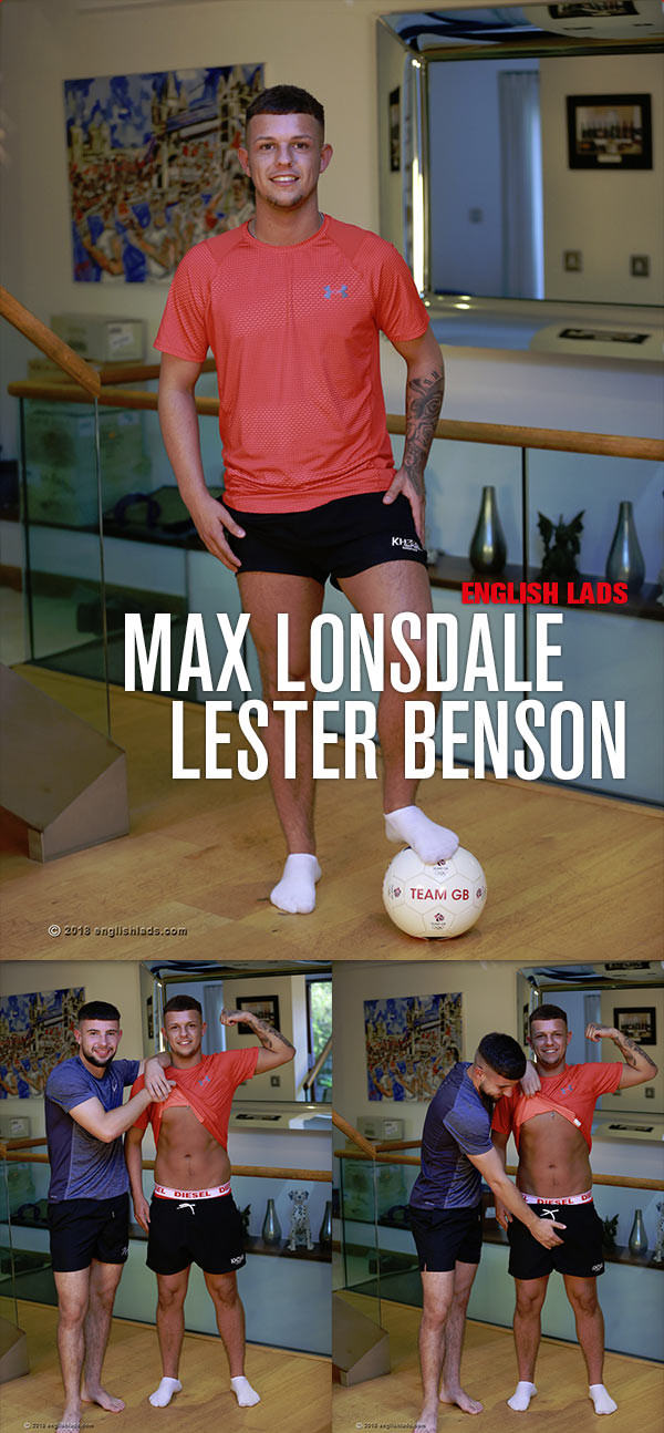 EnglishLads Straight Lad Lester Benson Shows us his Massive Uncut Cock and his Best Mate Max Lonsdale Lends a Hand
