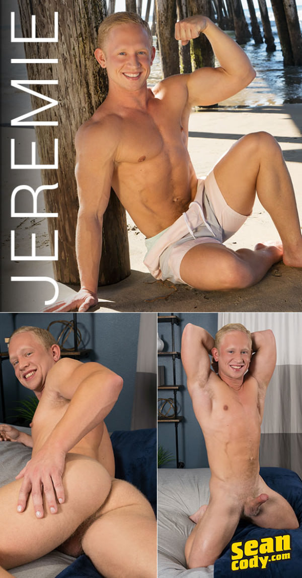SeanCody Muscle jock Jeremie rubs one out Solo