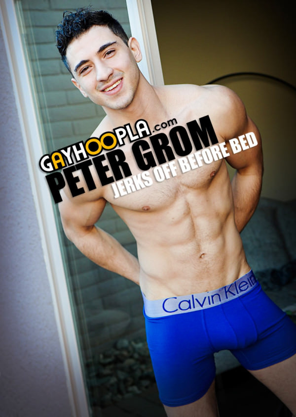 GayHoopla Peter Grom Jerks Off Before Bed Solo