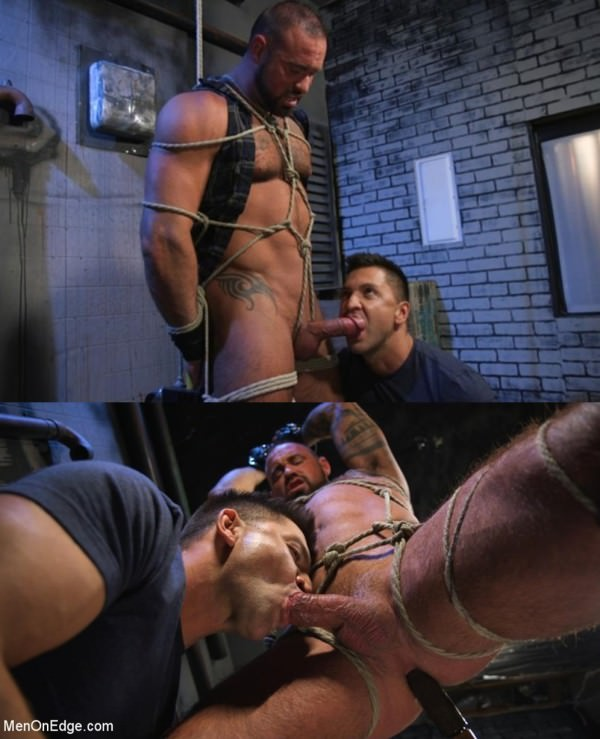 MenOnEdge Indecent Exposure: Muscle Stud Michael Roman Gets His Hard Cock Milked