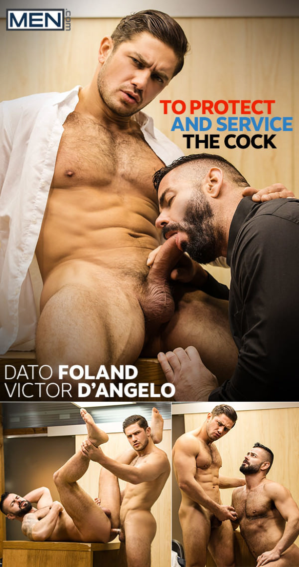 Men.com To Protect and Service the Cock Dato Foland fucks Victor D'Angelo TheGayOffice