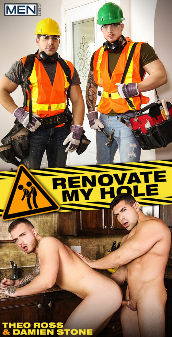 Men.com Renovate My Hole Damien Stone fucks Theo Ross Str8toGay