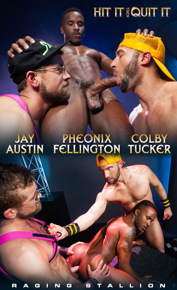 RagingStallion Hit It Then Quit It Pheonix Fellington, Jay Austin Colby Tucker bang each other
