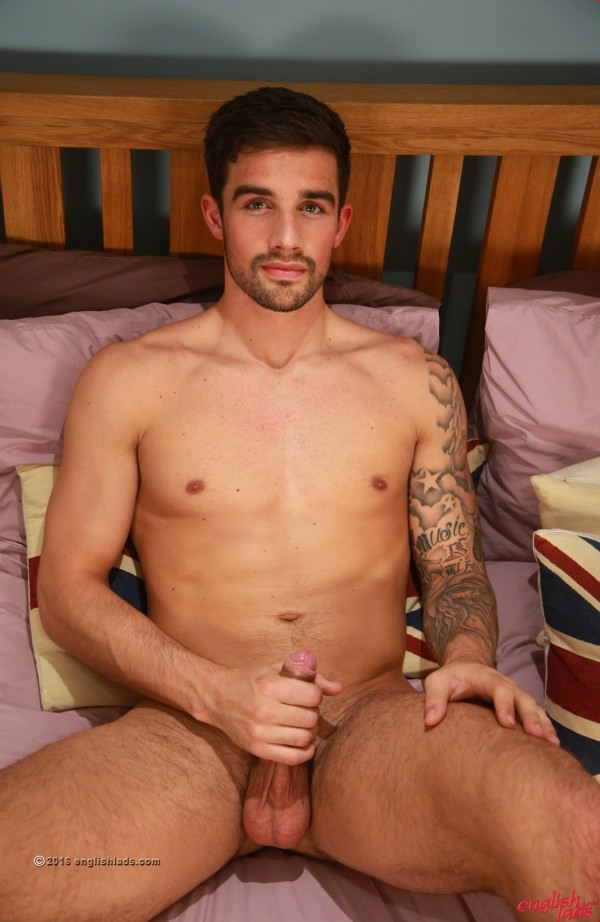 EnglishLads Bonus Video of Lucas Brookes' Photo Shoot - Fit Straight Footballer Shows off his Rock Solid Uncut Cock Lucas Brookes