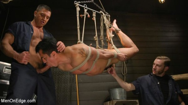 MenOnEdge ..But Your Dick Says Yes: Tony Prower Edged In Full Suspension