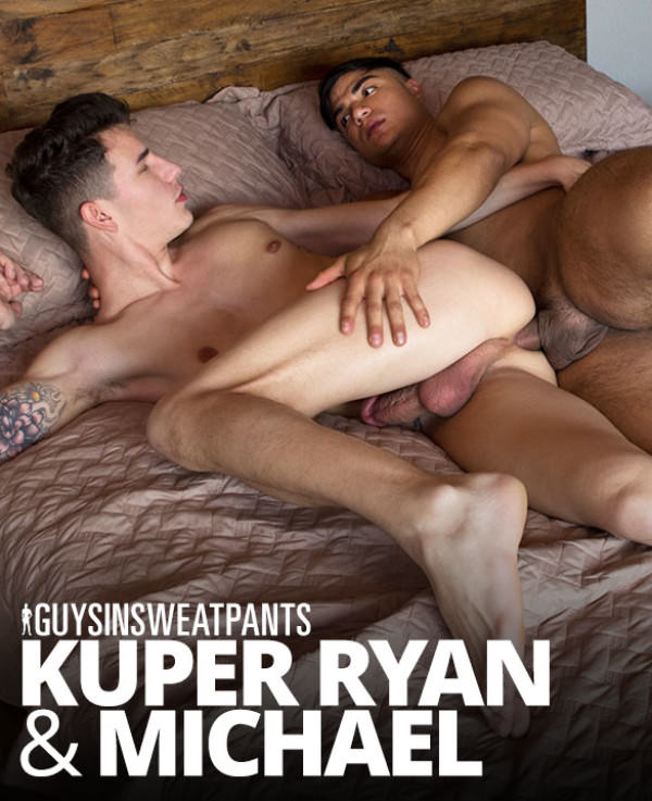 GuysInSweatpants Fresh and Fucked Michael fucks fellow newcomer Kuper Ryan bareback