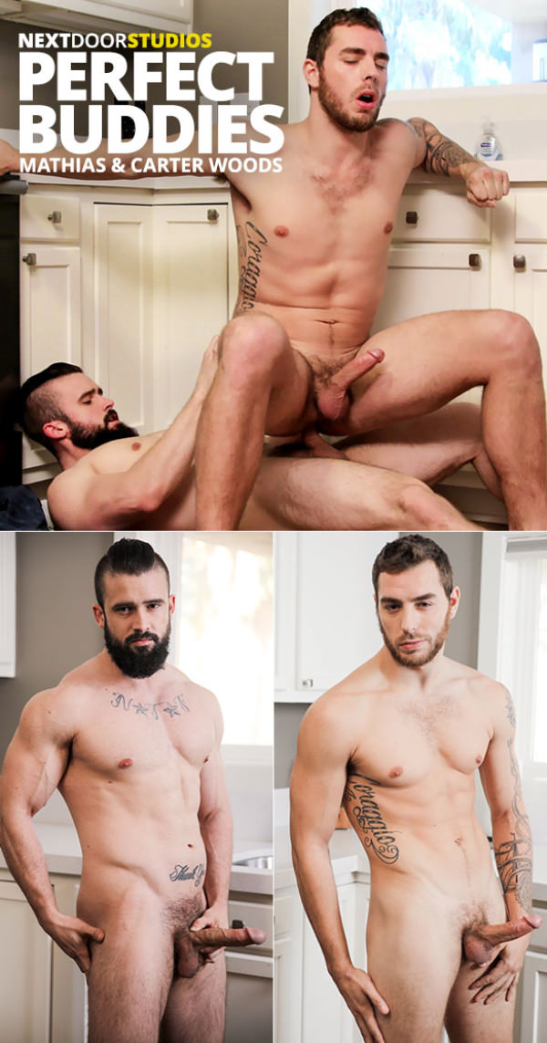 NextDoorRaw Perfect Buddies Mathias barebacks Carter Woods